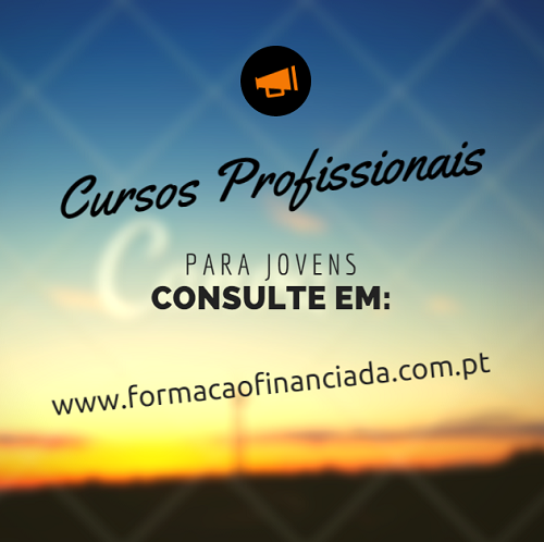 oferta de cursos profissionais em Portugal